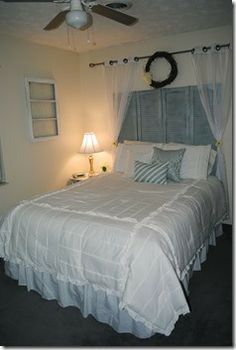 Sweet Tea and Southern Charm My Master Bedroom Home Tour  shabby chic, white, shutters, diy, do it yourself, lovely