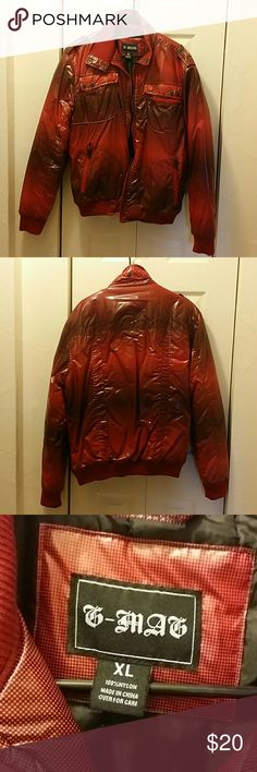 T-Mag Men's Jacket Pre-owned & in great condition! Size XL. With red and black colors in polka dot configuration. T-Mag Jackets & Coats Bomber & Varsity