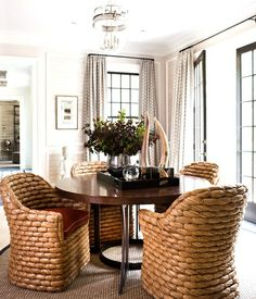 put roller under chair.  Why do they have to show. Comfy dining room seating that will sustain a long dinner with great conversation.