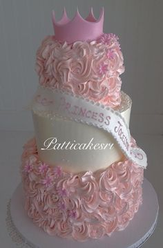 A three tier cake fit for a princess!