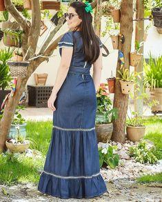 Long Dress Designs Indian Most Popular Ideas New Dress Design Indian, Long Dress Design, Sleeves Designs For Dresses, Dress Designs, Cute Dresses, Girls Dresses, Denim Fashion, Fashion Tips, Fashion Hacks