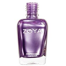 Zoya Nail Polish in Areetha - A medium blue-toned purple with a reflective, silvery metallic frost finish