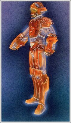 Character concept for the movie Tron by Moebius