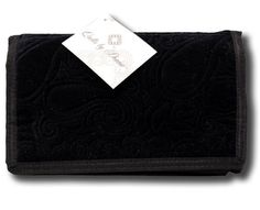 Donna Sharp Quilts Black Velvet Large Wallet / Handbag Quilted 12978