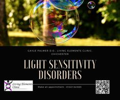 Light can trigger a range of problems - some obvious - like migraines for instance. In sensitive individuals too much light can bring on debilitating symptoms - but sometimes by getting to the cause and treating what we find in the tissues - to better normality - Osteopathy can make a difference. If this is you - it may be worthwhile investigating further with Osteopath Gayle Palmer at the Living Elements Clinic, Chichester. Read the blog / watch the video... If it helps you or a friend…