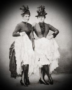French-Cancan dancers, Paris, ca 1885