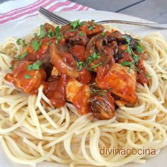 You searched for espagueti - Divina Cocina Food From Different Countries, Ravioli, Gnocchi, Tasty Dishes, Chowder, New Recipes, Delish, Chicken Recipes, Spaghetti