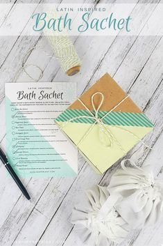 DIY Botanical Bath Sachet by JustJP. Learn how to make this Latin inspired bath… Fun Crafts For Kids, Diy Home Crafts, Money Making Crafts, Dried Lavender Flowers, Fabric Markers, Pretty Box, Do It Yourself Crafts, How To Make Diy, Craft Stores
