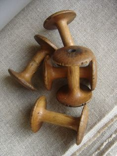 Antique french bobbins