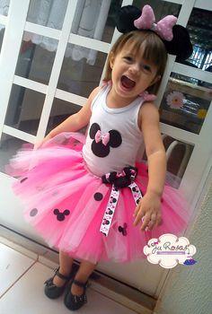 Conjunto Luxo Minnie rosa