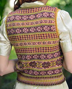 Ravelry: Eilidh pattern by Mary Henderson Fair Isle Knitting Patterns, Fair Isle Pattern, Vintage Knitting, Hand Knitting, Norwegian Knitting, Color Patterns, Vintage Men, Knit Crochet, Fair Isles