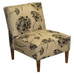 Check out this item at One Kings Lane! Finnegan Armless Chair, Beige/Black