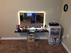 DIY vanity, I LOVE that you can sit on the floor instead of a chair. Totally my style!
