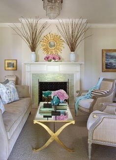 It's Before and After Friday and today we're looking at a living room remodel that is soft and relaxing