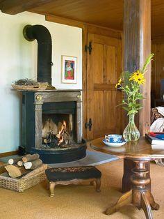 La chimenea, imprescindible en la casa de campo