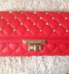 bolsa arezzo vermelha linda