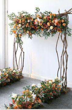 Arch Flowers, Flower Garlands, Flower Archway, Fall Flowers, Rustic Wedding Archway, Church Wedding, Autumn Wedding, Wedding Archways, Fall Wedding Arches