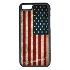 CellPowerCasesTM Grunge USA Flag iPhone 6 (4.7) Protective V1 Black... ($13) ❤ liked on Polyvore featuring accessories, tech accessories and black