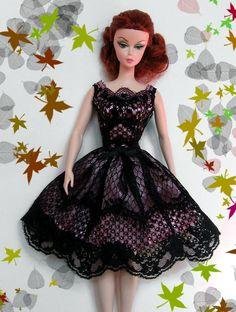 Little Black Dress: Black over Pink