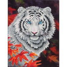 White Tiger In Autumn Diamond Dotz Diamond Embroidery Facet Art Kit Painting~Cat~Fall~October~November Japanese Embroidery, Embroidery Kits, Embroidery Designs, Sashiko Embroidery, T Art, 5d Diamond Painting, Art Deco Diamond, Thing 1, Embroidery Techniques
