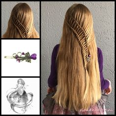 A long ladderbraid with a gorgeous bobby pin from the webshop www. All Hairstyles, Hairstyles For School, Braided Hairstyles, Ladder Braid, Hairstyle Braid, Hairstylists, Plait, Gorgeous Hair, Hair Looks