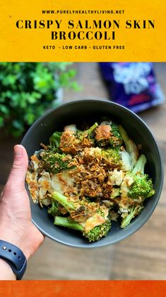 Quick Recipes, Whole Food Recipes, Keto Recipes, Dinner Recipes, Delicious Recipes, Salmon Skin, Broccoli Recipes, Good Food, Easy Meals