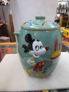 Disney Cookie Jars For Sale Vintage Mickey Mouse Cookie Jar Walt Disney Productions Blue Hand