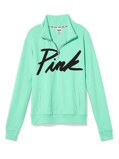 Victoria's Secret PINK BOYFRIEND HALF ZIP PULLOVER http://cgi.ebay.com/ws/eBayISAPI.dll?ViewItemitem=271304866522