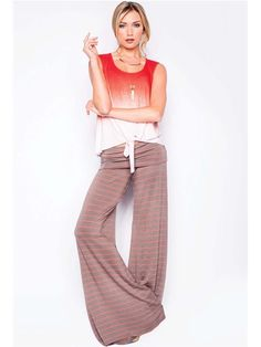 Saint Grace Moby Stripe Carol Pant in Eco with Lava