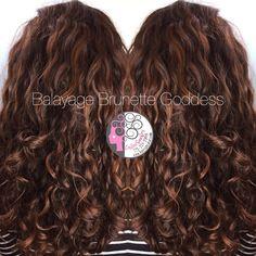 Balayage Pintura on naturally curly hair by Carleen Sanchez Nevada's Curl Expert www.haircutcolor.com 775.721.2969
