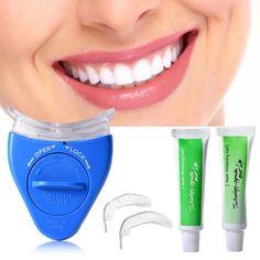 1 Takım YENI Sıcak Beyaz LED Işık Diş Beyazlatma Diş Beyazlatıcı jel Sağlık Ağız Bakımı Diş Macunu Seti için Kişisel Diş tedavi