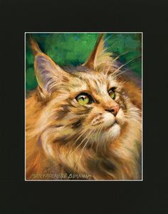 What's New Pussycat 11x14 Matted Print of Oil by ArtByMaryRochelle