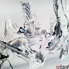Black white make grey abstract modern peinture abstraite et moderne d tail de peinture for Peinture acrylique sur toile