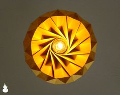 Chestnut paper origami lampshade - size S $72