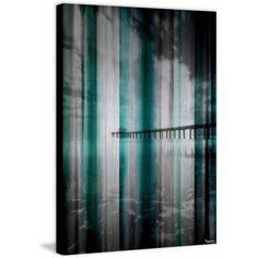 Parvez Taj Long Walk Print on Brushed Aluminum, Size: 30 inch x 45 inch, Multicolor