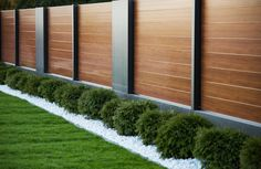 Modern fence Garden wall designs Exterior patio doors Fence Backyard garden design Modern patio doors - XCEL Modern fence Day and night span Lublin - . Garden Wall Designs, Modern Garden Design, Backyard Garden Design, Backyard Fences, Backyard Landscaping, Modern Design, Fence Garden, Creative Design, Fence Wall Design