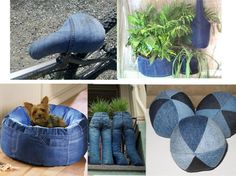 there is many ideas to use old jeans