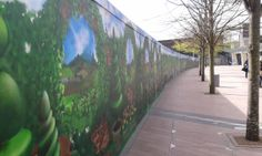 Some clever men spray-painted this mural on the hoarding next to North Greenwich station. Clever, Painting, Men, Paintings, Draw, Drawings
