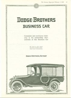 Dodge Brothers Business Car