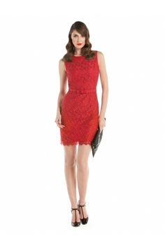 Robe en dentelle sans manches / Sleeveless lace dress www.jacob.ca Holiday Looks, Lookbook, Red And Grey, Holiday Fashion, Work Wear, Lace Dress, Diamond Earrings, Glamour, Gift Ideas