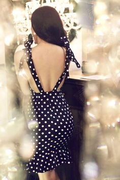 """When it comes to fashion, the old saying: """"what goes around, comes around"""" applies. This black polka dot piece is the perfect blend between class and trend. With celebs rocking this trend both on the red carpet and on the street, this little number will have you feel like a starlet in no time Cold Hand Wash Model is we Fashion Beauty, Womens Fashion, Dot Dress, Fashion Boutique, Spring Summer Fashion, Dress To Impress, Polka Dots, Bodycon Dress, Celebs"""