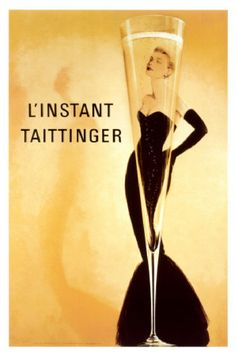 Vintage Poster - Champagne - Drink - Fashion