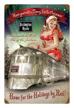 Have Yourself a Merry Little Christmas Pin-Up Metal Sign