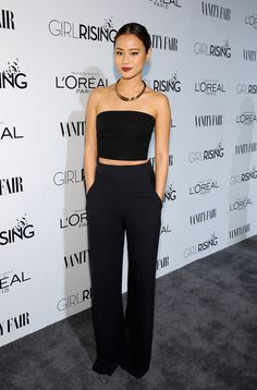 Full Sized Photo of elle fanning jamie chung women in film pre oscar party 21 Jamie Chung, Oscar Party, Elle Fanning, Looks Style, Style Me, Meagan Good, Freida Pinto, Dressy Pants, L'oréal Paris