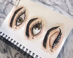 #watercolor #painting #paint #sketchbook Watercolor Eyes, Watercolor Painting, Halloween Face Makeup, Sketches, Art, Illustrations, Drawings, Art Background, Kunst