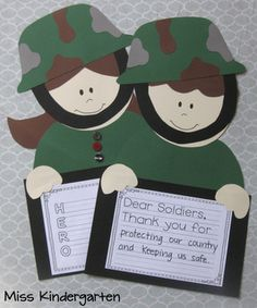 Veterans Day Craft and Writing Templates Treats for Our Sweets - Miss Kindergarten Veterans Day Activities, Holiday Activities, Craft Activities, Holiday Crafts, Veterans Day For Kids, Autism Activities, Preschool Worksheets, Educational Activities, Classroom Activities