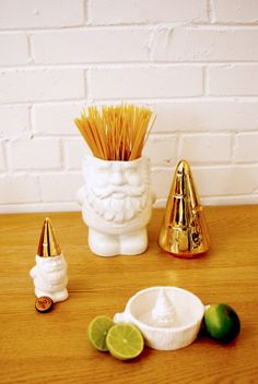 gnome cookie jar - $60 - gnome juicer $28 - gnome bottle opener $22