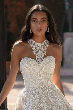 c5e1f9fcc2d4 A bride will look so chic walking down the aisle in any of these bridal  dresses by Greek designer