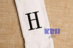 Monogrammed Hand Towel by KeepsakesByHeather on Etsy