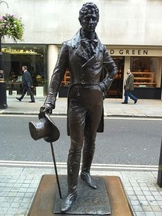 Statue of Beau Brummel on Jermyn Street, London.